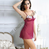 As mulheres Babydoll lingerie sexy Sleepwear Transparente Lace Chemises Outfit
