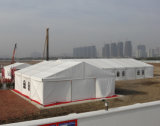 Tente de mémoire d'événement d'entrepôt de dessus de toit de PVC avec l'étage en bois