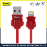 iPhone Xのためのカスタムカラーデータ電光USBの充電器ケーブル