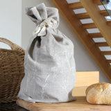 Divers types, grand dos, rond, sacs de tissu avec la corde de chanvre