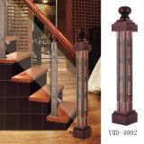 Алюминиевый сплав магния + деревянная колонка усовика лестницы нержавеющей стали