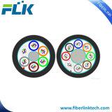 FTTH FTTX Air soufflé micro Câble fibre optique du conduit d'ABF avec cordon PRF et rip gaine extérieure en PEHD Coeurs 12-144