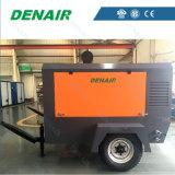 Compresor de aire portable a diesel de alta presión del tornillo