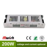 200W 12V16.7Driver de iluminação LED para interior de uma fonte de alimentação com RoHS da CE