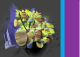 a dispersão de 100%Polyester Tmnt 3D imprimiu a tela para o jogo do fundamento