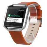 Riem de van uitstekende kwaliteit van de Manchet van het Leer van het Ontwerp van de Manier voor Fitbit Uitbarsting Smartwatch