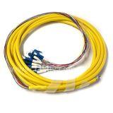 Câble de répartition 12 fibres LC/SC/FC/St Bundle amorce en fibre optique multi-coeurs