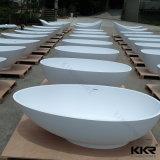 Eco-Friendly Solid Surfaces Acrylic Freestanding Round Bathtub
