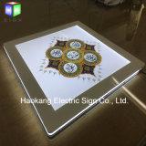 Acryl LEIDEN van het Kristal van het Blad van de Raad Acryl Licht Vakje voor Omlijsting