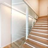 Внутренне проступи твердой древесины плавая случай лестницы