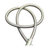 Reforzado con alambre de acero resistente 100% puro de Teflon Virgen de la SS 304 PTFE trenzado flexible trenzado