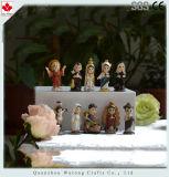 Diseño de dibujos animados de resina figurita de pesebre de Navidad Decoración de interiores