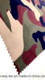 Hwnt038 100% nylon tecido anilha ondulada para baixo a prova com uma camuflagem Imprimir