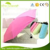 Изготовленный на заказ зонтик карманн цвета с UV предохранением