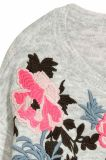 Одежды свитера способа шеи повелительниц круглые с цветастой вышивкой
