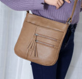 Lady PU Leather Handbag Designer High Quality Messenger Bag (WDL0948)