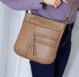 Sacchetto di cuoio del messaggero di alta qualità del progettista della borsa della signora PU (WDL0948)