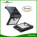 Las luces solares plegables 14 LED Sensor de movimiento de Energía Solar Luz Nocturna Waterproof Spotlight Lámpara de pared