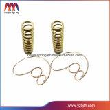 Die goldene kupferne Zylinder Blattfeder Schraubenartig-Umwickeln Druckfeder