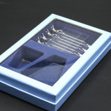La alta calidad Estuche terciopelo flocado bandeja decorativa rectangular de plástico