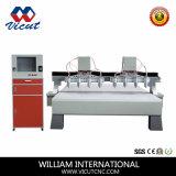 Tagliatrice di legno di CNC di vendita dell'asse di rotazione caldo della macchina 6