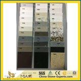 Opgepoetst Kunstmatig Transparant Gebouwd Kwarts voor Keuken/Badkamers/Muur/Tegel met Witte/Grijze/Zwarte/Gouden/Roestige/Gele/Bruine/Roze Kleuren
