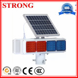 Angeschaltene LED-Röhrenblitz-Leuchtfeuer-Solarwarnleuchte für Aufbau-Kräne