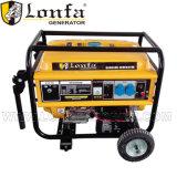 генератор газолина 5kw с ручкой и колесами для домашней пользы
