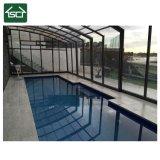 Policarbonato montada na parede piscina exterior do compartimento da Estrutura de alumínio Capota