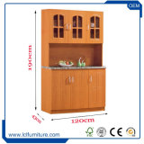 Het uitstekende Meubilair van de Keuken 4 Kasten van de Keuken van de Oppervlakte van pvc van de Deur