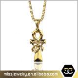 Le bijou d'Ankh d'or de Hip Hop de Mens charme le collier pendant Mjhp106