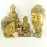 Heiße Verkaufs-Ausgangsdekoration-Polyharz-Buddha-Goldstatuen hergestellt in China