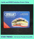 Cartão de plástico com tarjas magnéticas de loja para armazenar