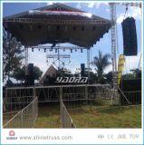 1.5-2m de altura de la etapa de ajuste de aluminio para el gran concierto al aire libre