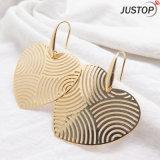실제적인 금에 의하여 도금되는 금관 악기 구리 형식 큰 두 배 심혼 귀걸이