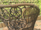 Muebles al aire libre calientes de la silla de mimbre de la rota del PE de la venta