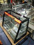 Showcase quente do aquecedor do indicador do alimento de duas prateleiras na vista elegante