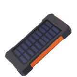 Wasserdichte Doppel-Sonnenkollektor-Energien-Bank des USB Li-Polymer-Plastik Ladegerät-30000mAh