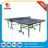 Indoor MDF Table pliante unique de Tennis de table avec des roues