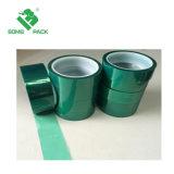 Adesivo de silicone resistente ao calor de tereftalato de polietileno verde Fita de poliéster