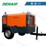 Inyección de aceite de alta eficiencia móviles portátiles de tornillo Diesel compresor de aire