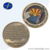 고품질은 정지한다 금관 악기 금에 의하여 도금된 도전 금속 기념품 동전 (FTCN1915A)를