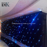 Enciende LED cortina de tela Star Decoración de Boda