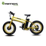 """Vue à la mode avec le vélo électrique de neige du seul modèle 20 """" avec le gros pneu"""