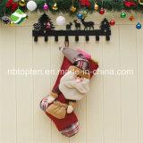 Calcetines grandes de Navidad del accionista de la Navidad de la talla 3D para colgar pegar del regalo del caramelo