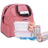 昼食袋のトートバックの昼食のオルガナイザーの昼食のホールダーの昼食の容器(赤い縞)
