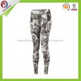 Produtos OEM personalizados mulheres Sublimação de compressão Fitness Workout Lycra Calças de ioga