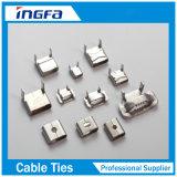 Collier de serrage installé facile durable d'acier inoxydable avec des boucles