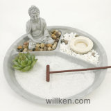 Décoration asiatique de méditation d'arts de relaxation de cadeau de jardin de roche de Zen