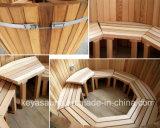 Hautement bois Cost-Effcient un bain à remous avec poêle à bois